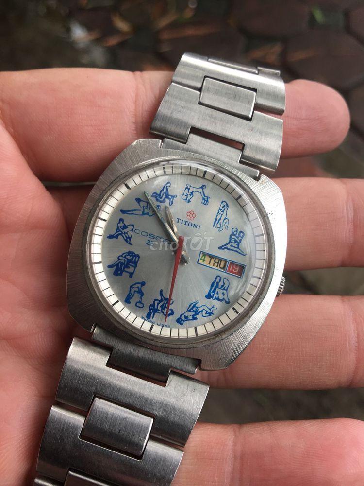 Đồng hồ TITONI 12 tư thế tự động automatic Thụy Sỹ