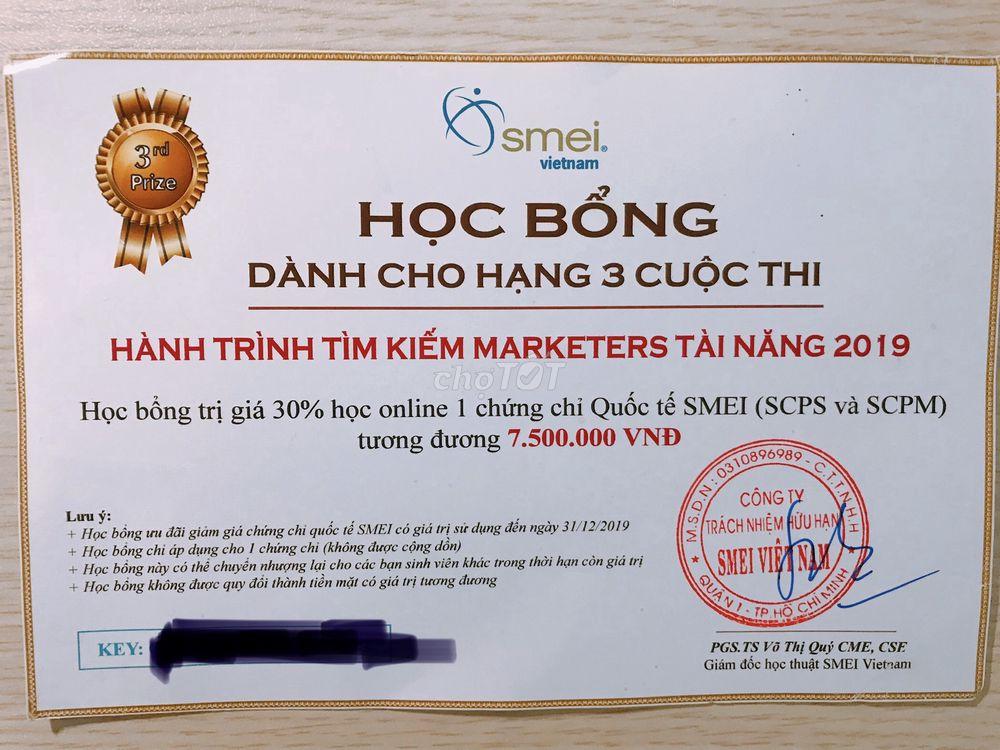 Khoá học SMEI Marketing - Toàn cầu