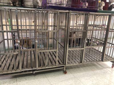 Thanh lý chuồng inox đôi 2mx1m chó lớn