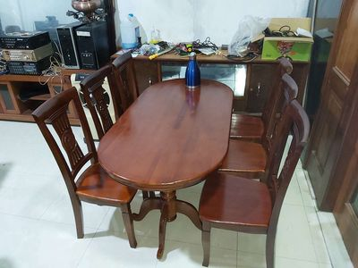 Bán bộ bàn ghế ăn gỗ xoan đào đẹp