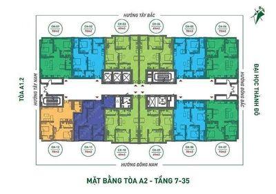 Chung cư Nhà ở Xã Hội THT 70m² 2PN