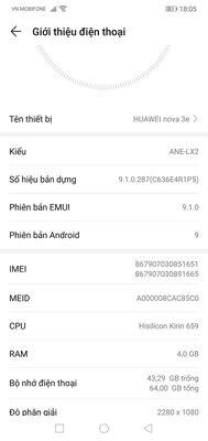 Nova 3e Cần giao lưu điện thoại huawei y7 pro 2019