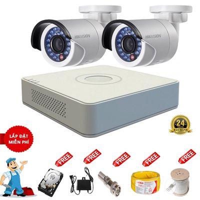 trọn bộ 2 camera Hikvision chính hãng giá rẻ