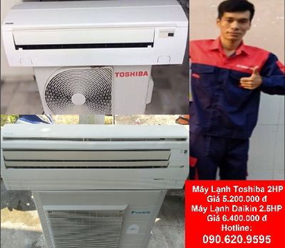 Máy lạnh công suất cao giá rẻ còn mới 90%