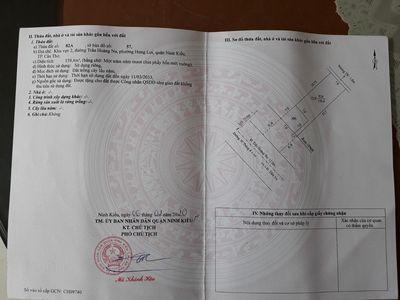 Bán, cho thuê đất + nhà Q. Ninh Kiều DT 208,4m2