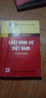 Combo Giáo trình Luật Hình sự, Hiến pháp Việt Nam