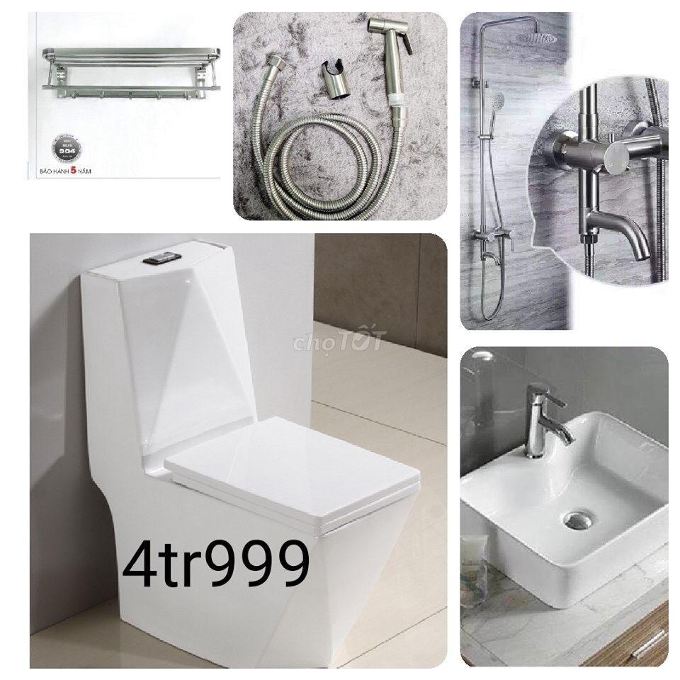 Chỉ 4tr999 trọn bộ thiết bị vệ sinh cao cấp