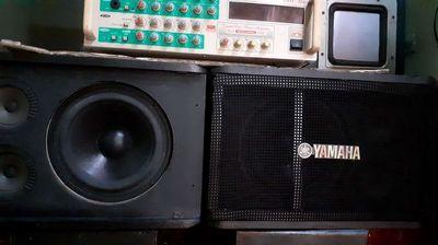 Bộ karaoke loa supebas yamaha bass 20cm âm ly 4 s
