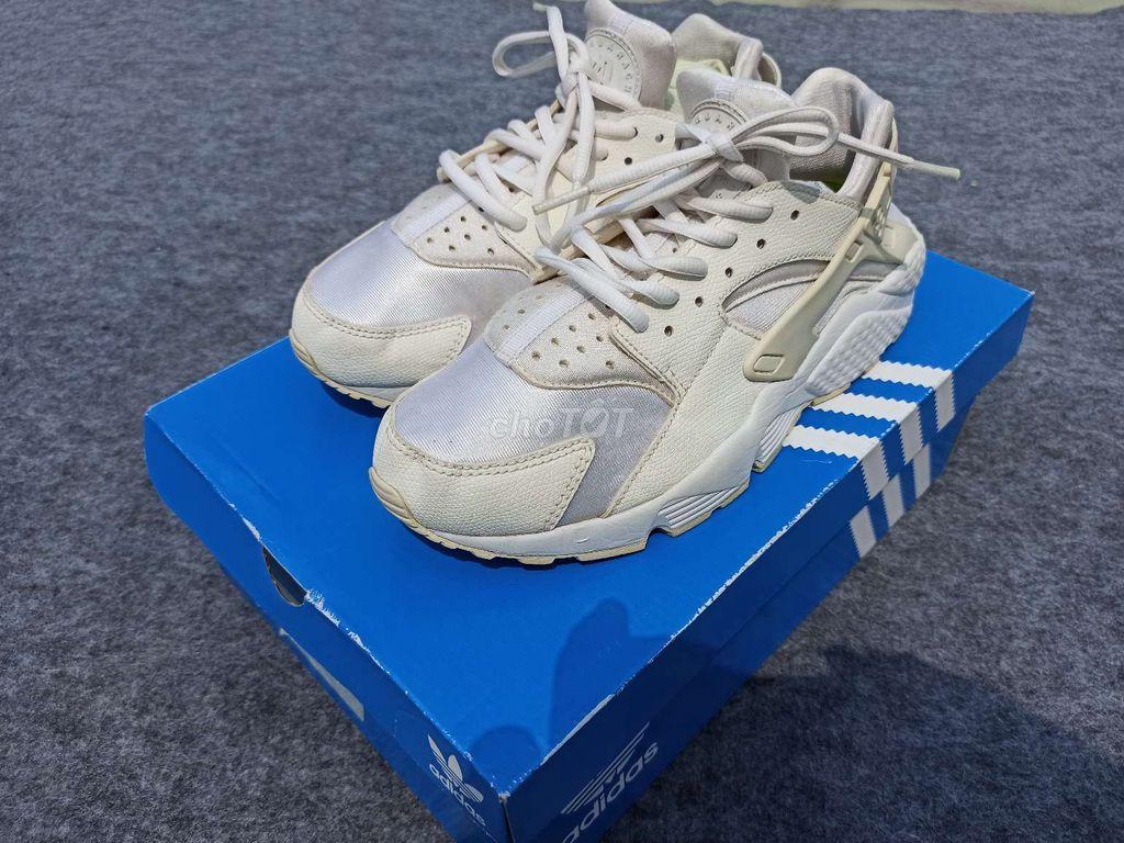 0766632652 - Giày Adidas hurache full white, size 39, rea 2hand