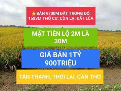 ⭐BÁN 9700M ĐẤT TÂN THẠNH, THỚI LAI