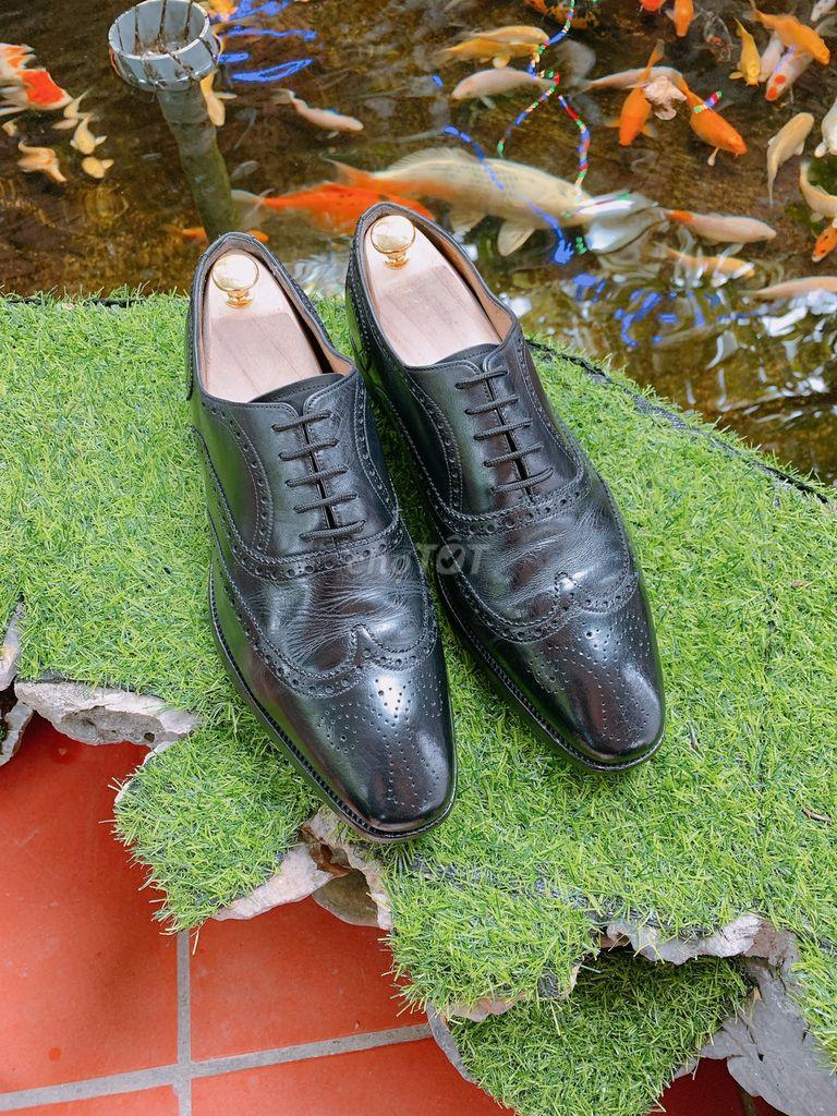 Giày tây Oxford Wingtip đế da khâu size 42