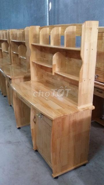 bàn học gỗ thông ghép sơn PU mới 100%, FS HCM
