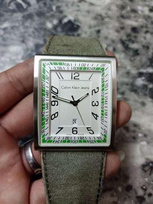 Đồng hồ cũ Calvin Klein jeans Thụy Sĩ mặt vuông