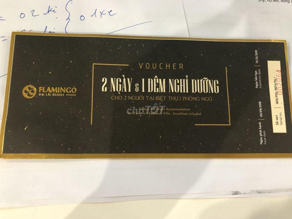 Voucher đại lải flamengo 2 ngày 1 đêm cho 2 người