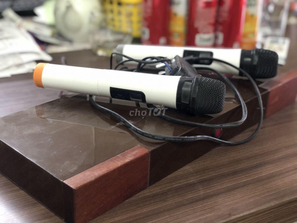0914646828 - Mic karaoke ko dây loa kéo độ vỏ gỗ