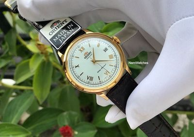 Đồng hồ Orient Bambino Gen 2 Gold Leather