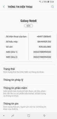 Galaxy note 8. Cần bán