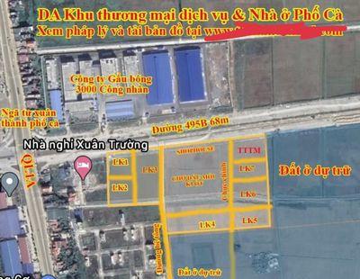 Đất dự án Phố Cà - Ngã Ba Xuân Trường 100m2