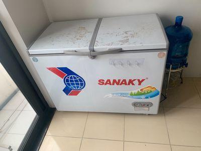 Tủ đông sanaky 360l hai ngăn dàn đồng phòng covid
