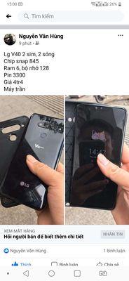 LG V40 ThinQ 2 sim Đen 6/128