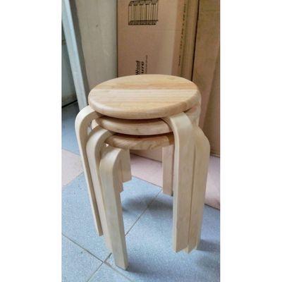Ghế đôn tròn gỗ su hàng xuất khẩu