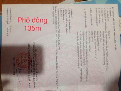 Bán Đất  thi trấn bich động Huyện Việt Yên 135m2