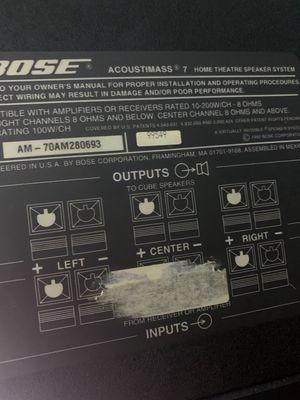 Bán bộ Bose AM 7 gồm 5 cube đơn. Sub đẹp như mới
