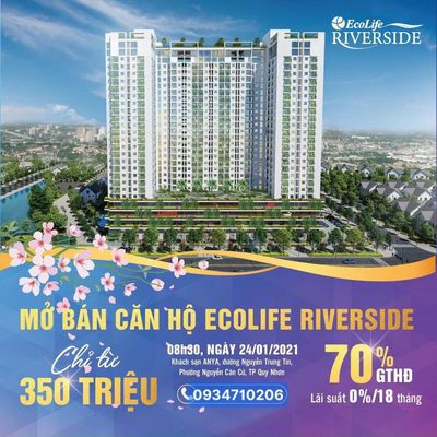 Hãy mua căn hộ Ecolife Riverside 2PN chỉ từ 350tr