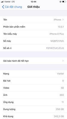 Iphone 8plus 256G bản Vn/a