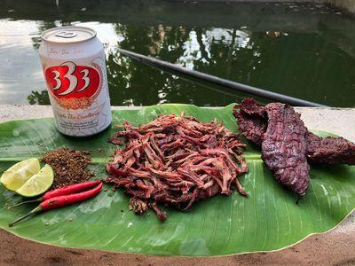 Thịt trâu gác bếp đặc sản Hà Giang